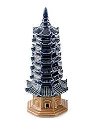la decoración del tanque de peces de la pagoda de cerámica pequeña