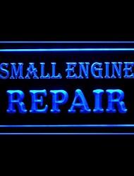 pequeña publicidad de reparación de motores llevó la muestra de la luz