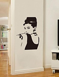 jiubai ™ Audrey Hepburn sticker mural décalque de mur