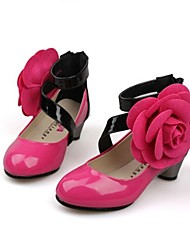 Girl's Low Heel Ankle Strap Pumps with Flower Shoes (More Colors)