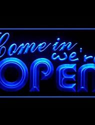 Приходите Open Реклама светодиодные Войти