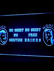 Women Free Drinks Advertising LED Light Sign
