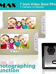 "TMAX® 7"" LCD Photographing Video Door Phone with 500TVL Night Vision Camera (1Camera to 2Monitors)"