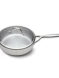 BODEUX® Solid Material Hardness Royal Sauté Pans 24cm 304 Stainless Steel 40.4cm*25.5cm*8cm
