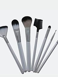 7PCS White Handle Makeup Brush Set Cosmetic Brushes Tool