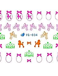 yemannvyou®5pcs стиле аниме искусства ногтя люминесцентные водяные знаки наклейки Юг-034
