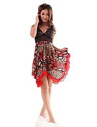 grano del leopardo de onda de la moda de las mujeres dnyh® camisón sexy