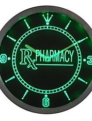 Pharmacie RX Symbole Boutique enseigne au néon Horloge murale LED