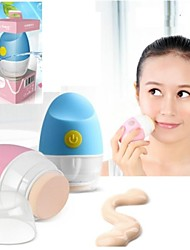 4D elétrica Face Powder Puff (2 * AAA)