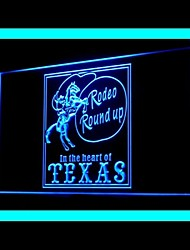 Cowboys Horse Rodeo Texas Round Up Advertising LED Light Sign,110-120V