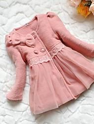 Girl's Brown / Pink Jacket & Coat Cotton Winter