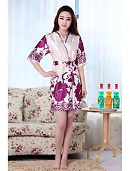 Elegante Damenmode Printing Silk Robe (weitere Farben)