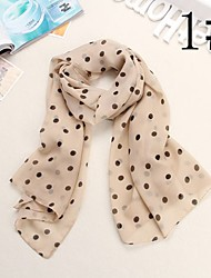 Bully Dot Pattern Shawl Chiffon Scarf