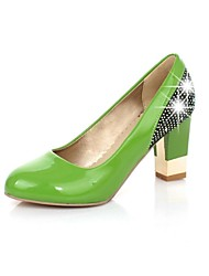 Women's Chunky Heel Round Toe Pumps Shoes(More Colors)