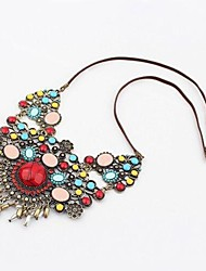Women's Ethnic Multicolor Gemstone Necklace