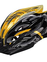 cima de la montaña en bicicleta 23 respiraderos de pvc + eps negro y amarillo moldeada integralmente casco de la bicicleta / bicicleta (54-64cm)