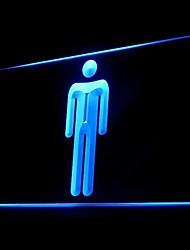 Masculino WC Publicidade LED Sign