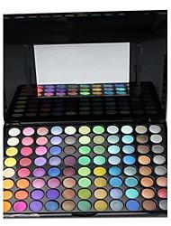 88 couleur illusion chatoyante palette de maquillage de fard à paupières professionnel avec miroir / brosse