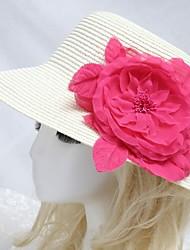 Capacete Chapéus Ocasião Especial/Casual/Ao ar Livre Papél Mulheres/Menina das Flores Ocasião Especial/Casual/Ao ar Livre