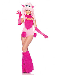 Lovely Furry Monster Pink Terylene Women's Halloween Costume