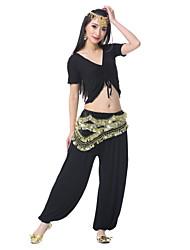 Ceinture(Noire,Satin,Danse du ventre)Danse du ventre- pourFemme Spectacle Danse du ventre