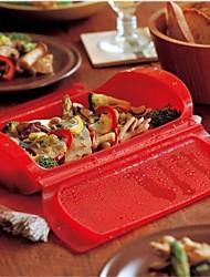caixa de vapor almoço segurança moda pp plástico de cor aleatória, 25.5x13x6cm
