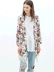 DYS Floral Print Tassels Tops
