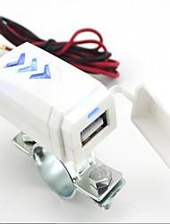 Motorcycle stunning blue lights USB mobile phone charger 12V turn 5V 1A