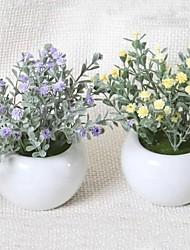 piante in vaso fiori di simulazione romanzo pastorale di plastica artificiale (consegna casuale)