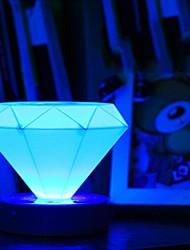 LED Table Lamp,1 Light,Artistic Diamond Shape Color Changing Plastic-4.5V
