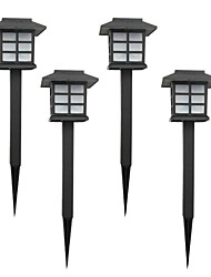 Set of 4 Color Changing Solar Lawn Lamp Garden Stake Light