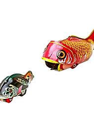 mola de metal nostálgico artesanal peixe grande comer pequeno brinquedo de lata filhos peixes
