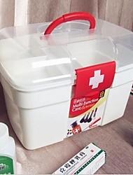 22x15x13cm plastique contenant des produits ménagers boîte de médicament portable
