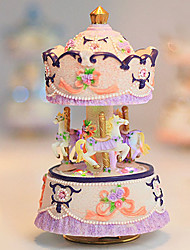 "6.4""Carousel Design Music Box with LED(Music:Happy Birthday)"
