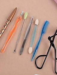7 pcs Plastic  Makeup Tools,Random Color