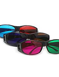 m&k rojo gafas 3d azules para ordenador televisión (clásicos, 3pcs)
