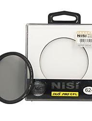 lente de filtro polarizador circular ultra delgado 62mm nisi pro cpl