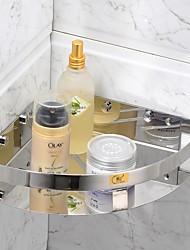 Chrom-Finish Edelstahl Material Badezimmer-Regale