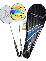 Racket AOPI de ferro-alliages 2 PCs multiples Type d'alliage d'aluminium de badminton
