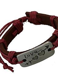 Stone Mandrel Leather Bracelet