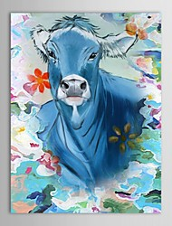 Hand Painted Oil Painting Animals Buffalo Swimming with Stretched Frame