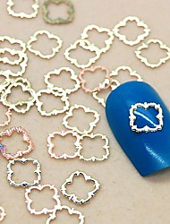 Fatia do metal 200pcs forma rendas de ouro nail art decoração