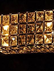 6w k9 apliques cuadrados de cristal de luz con 2