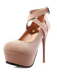 Pompes stylet de plate-forme de talon de chaussures de femmes (plus de couleurs)