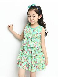 bb&vestido del chaleco de la impresión floral b verano nueva moda 2014 de chica guapa medio