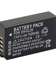 Nikon 1020mAh bateria para câmera digital en-EL20 aplicável