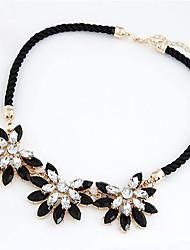 MIKI Vintage Flower Gemstone Necklace