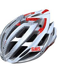 смс 25 жерла EPS + PC алюминия рамки сплава белый красный интегрально-литой задействуя шлем (58-62см)
