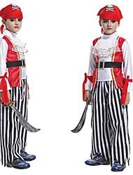 traje de Halloween piratas medievais marinheiros criança