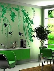 paisagem salgueiro verde e parede andorinha adesivos